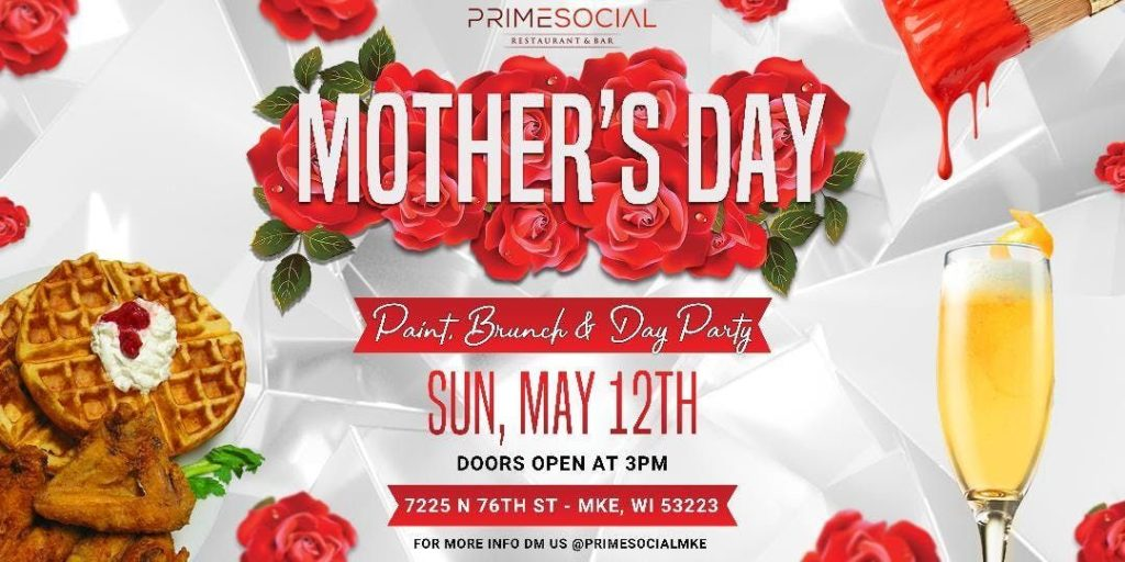 mother's day party at restaurant