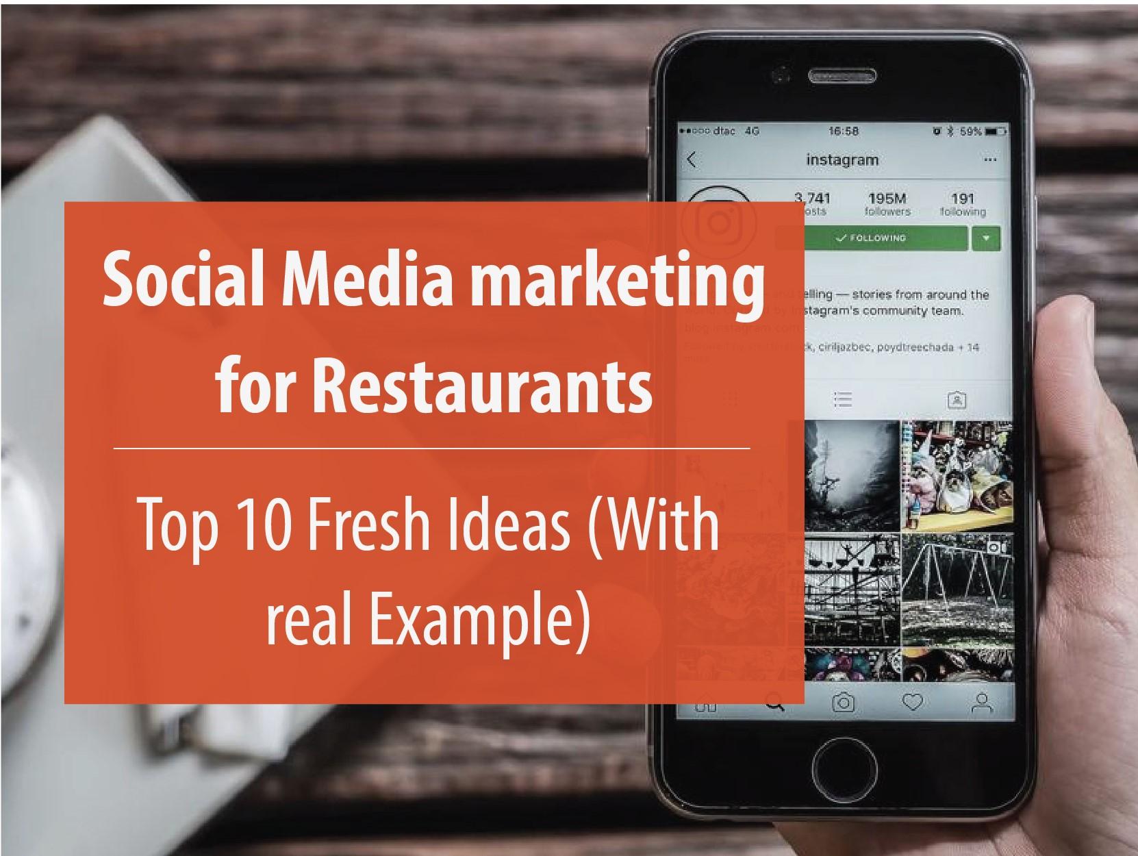 Restaurant Social Media Marketing - Top 10 Ideas (with examples)