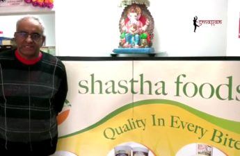 Mani krishnan - founder and Chief of Shastha foods in the US