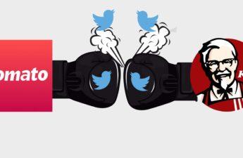 KFC replied to zomato on twitter