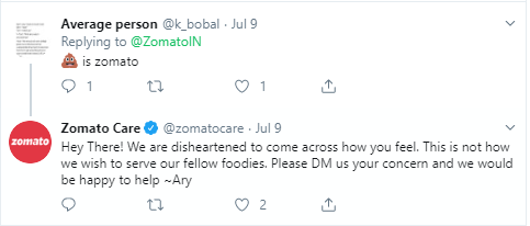 "What KFC Replied to Zomato on Twitter with his ""Food Sign"