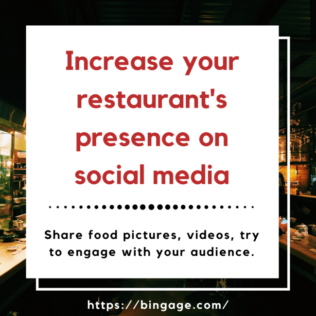 how to make a restaurant business successful - have social media presence