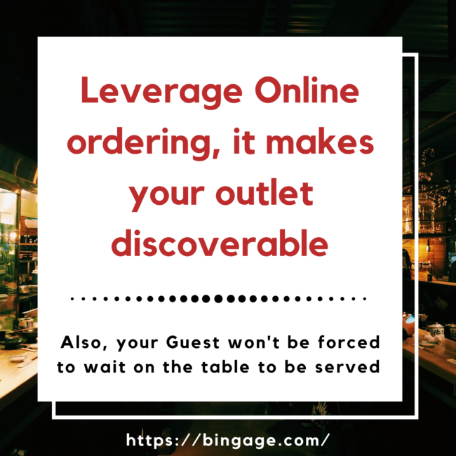 leverage online ordering platform such as swiggy, zomato, and ubereats