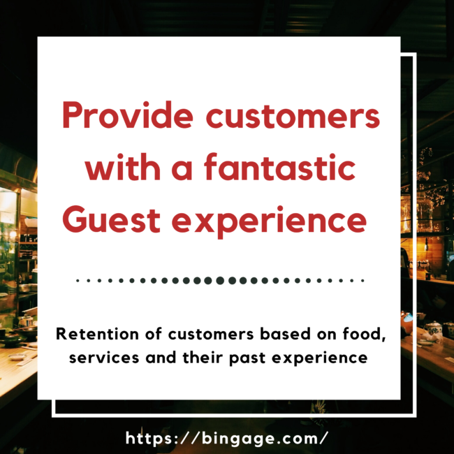 Provide positive and consistant services to customers in order to increase restaurant sales