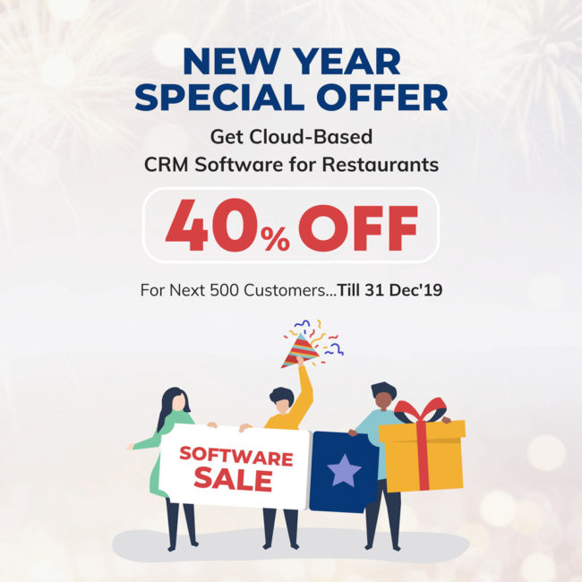 New year sale on restaurant marketing software