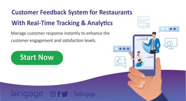 Restaurant customer feedback management system - digital feedback system