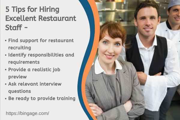 5 tips for hiring an excellent restaurant staff and employees