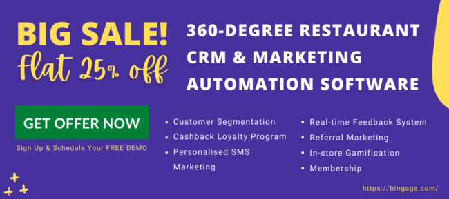 Bingage CRM software sale - flat 25% off on all plans