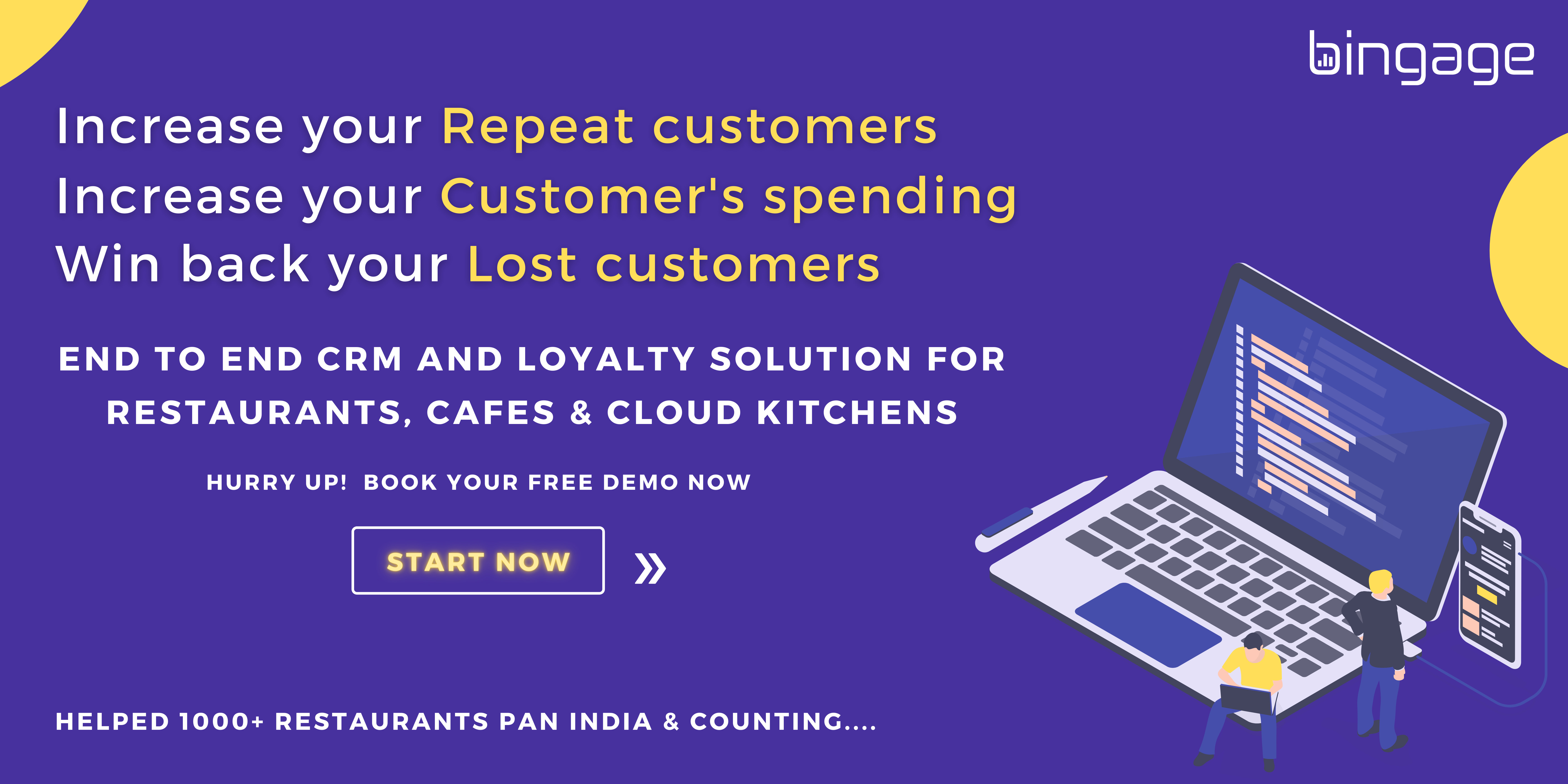 Complete CRM & Loyalty Solution for Restaurants, Cafe and cloud kitchens.